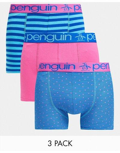 Calze Multicolore uomo Confezione da 3 paia di boxer blu e rosa - Original Penguin - Multicolore