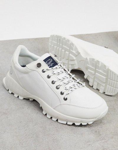 Sneackers Bianco uomo Sneakers bianco sporco con suola spessa - Original Penguin - Hiker