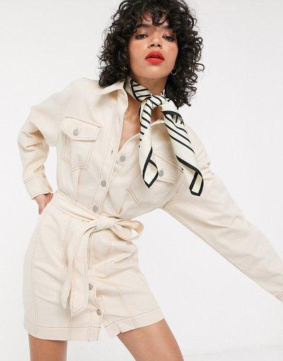 Beige donna Vestito corto multitasche strutturato beige -&Other Stories