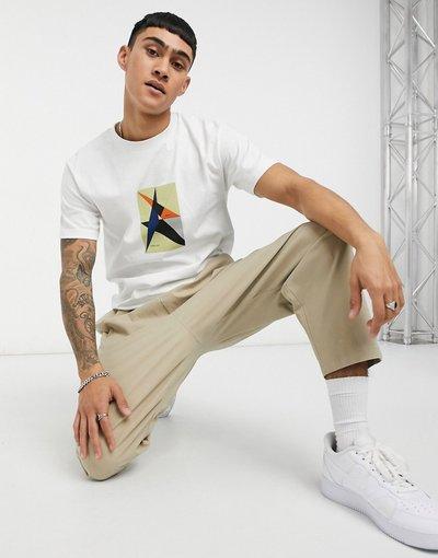 T-shirt Bianco uomo shirt bianca con ricamo - Toulouse - Parlez - Bianco - T