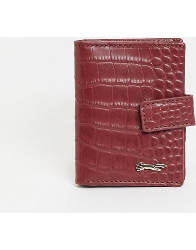 Portafoglio Rosso donna Portacarte a libro in pelle rosso coccodrillo - Paul Costelloe