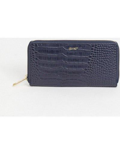 Borsa Blu navy donna Portafoglio colour block in pelle blu navy effetto coccodrillo - Paul Costelloe