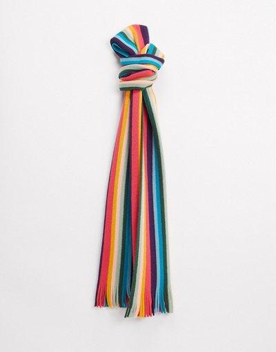 Multicolore uomo Sciarpa di lana a righe multi - Paul Smith - Multicolore - Artist