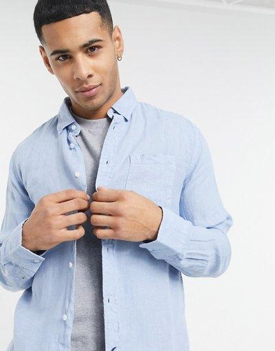 Camicia Blu uomo Camicia a maniche lunghe - Pepe Jeans - Addison - Blu