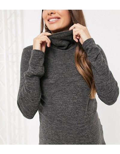 Grigio donna Top grigio scuro in maglia in coordinato - Pieces Maternity