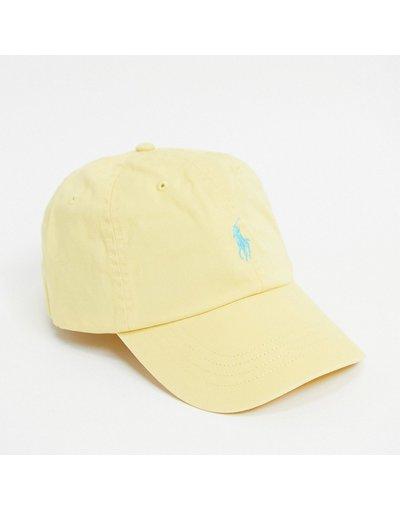 Cappello Giallo uomo Cappellino giallo con logo - Polo Ralph Lauren