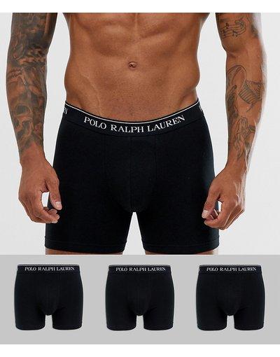 Intimo Nero uomo Confezione da 3 boxer aderenti lunghi neri - Polo Ralph Lauren - Nero