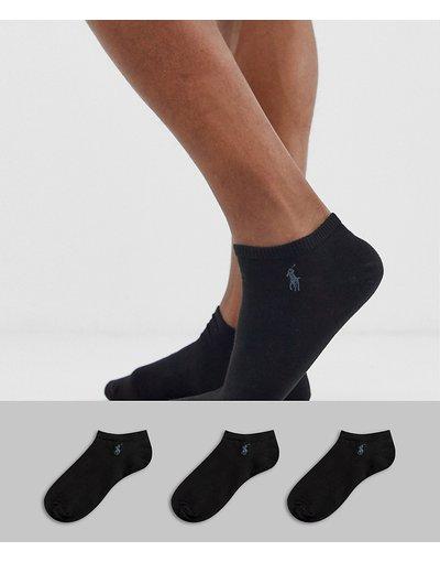 Intimo Nero uomo Confezione da 3 paia di calzini sportivi neri - Polo Ralph Lauren - Nero