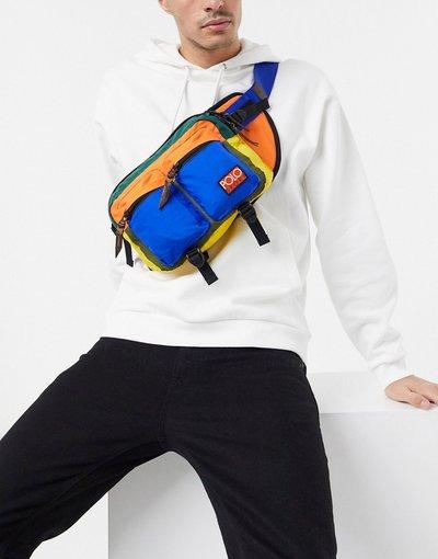 Borsa Multicolore uomo Marsupio multi con logo - Polo Ralph Lauren - Multicolore