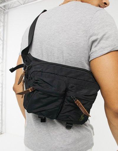 Borsa Nero uomo Marsupio nero con logo - Polo Ralph Lauren