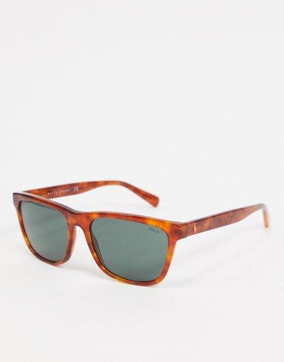Occhiali Marrone uomo Polo Ralph Lauren: occhiali da sole quadrati tartaruga 0PH4167 - Marrone