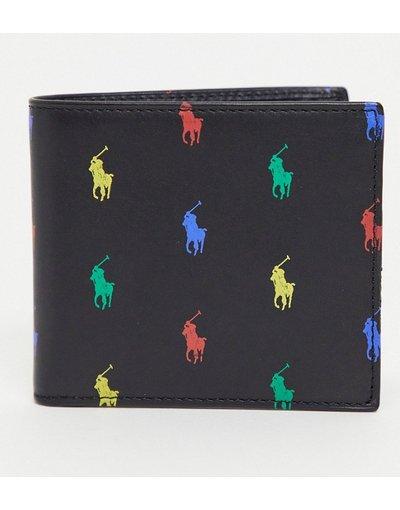 Portafoglio Nero uomo Portafoglio in pelle nero con logo - Polo Ralph Lauren