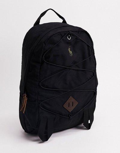 Borsa Nero uomo Zaino nero con logo a contrasto - Polo Ralph Lauren