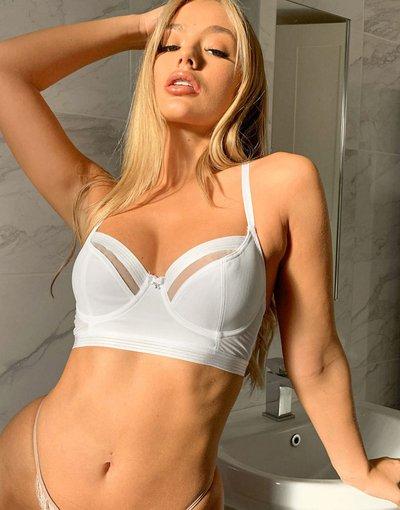 Bianco donna Reggiseno lungo bianco - Viva Luxe - Pour Moi