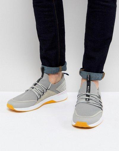 Grigio uomo Sneakers grigie in maglia con allacciatura speed lace - PS Paul Smith - Rapid - Grigio