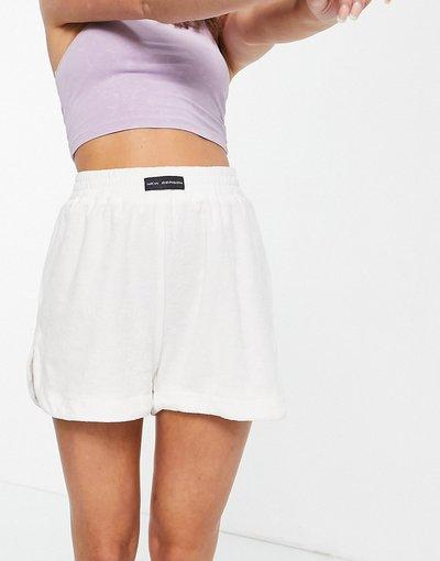 Pigiami Bianco donna Pantaloncini del pigiama in spugna, colore bianco sporco in coordinato - Public Desire