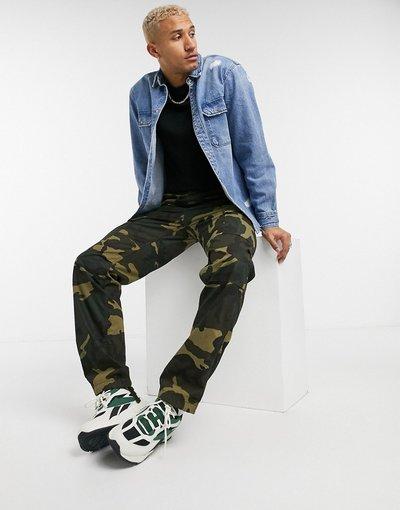 Camicia Blu uomo Camicia di jeans effetto invecchiato blu - Pull&Bear