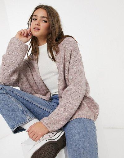 Rosa donna Cardigan oversize fil - Pull&Bear - fil rosa - à