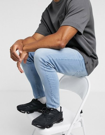 Jeans Blu uomo Jeans carrot azzurri - Pull&Bear Join Life - Blu