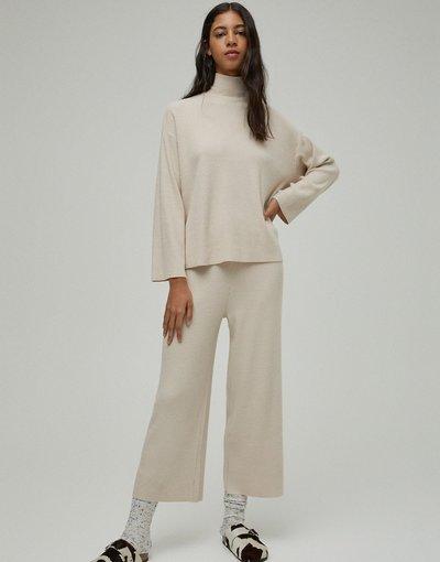 Beige donna Maglione accollato morbido color cammello in coordinato - Pull&Bear - Beige