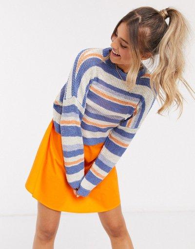 Multicolore donna Maglione colorato a righe - Multicolore - Pull&Bear