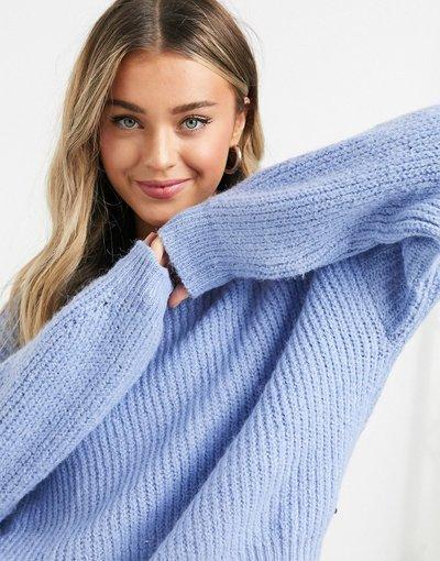 Blu donna Maglione lavorato a maglia spessa blu - Pull&Bear - Pacific