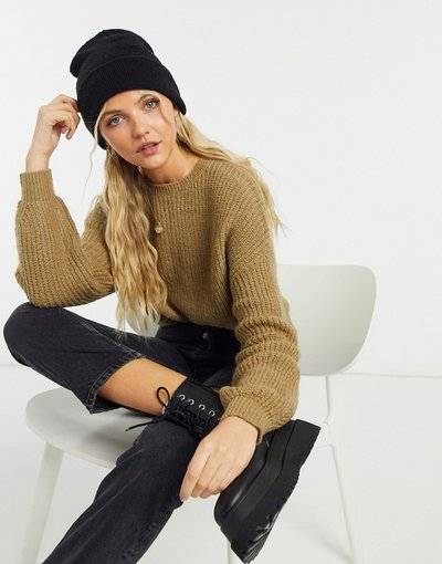 Marrone donna Maglione spesso lavorato a maglia marrone - Pull&Bear - Pacific
