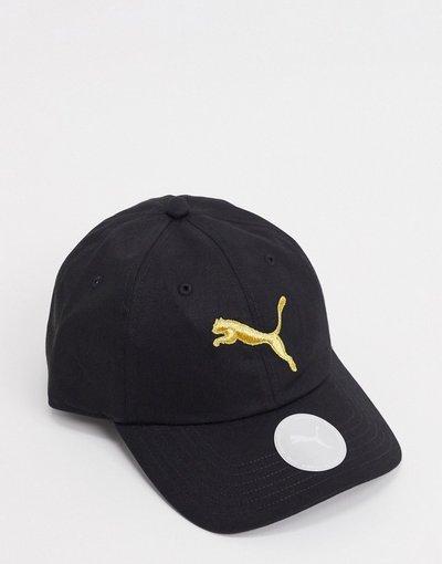 Cappello Nero uomo Cappellino nero e oro con logo - PUMA