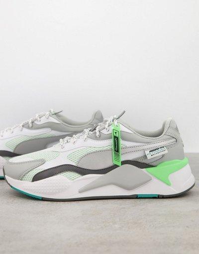 Stivali Bianco uomo Sneakers bianche e argento - Mercedes F1 RS - Bianco - PUMA - X3