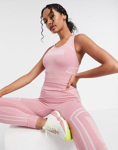 Rosa donna Reggiseno modellante senza cuciture rosa - Puma Training