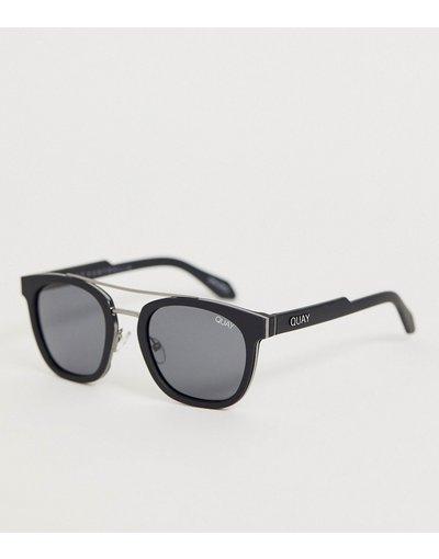 Occhiali Nero uomo Occhiali da sole rotondi neri - Quay Australia - Coolin - Nero