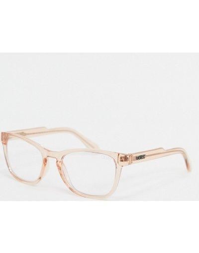Occhiali Trasparente uomo Occhiali mini azzurri trasparenti - Quay Australia - Trasparente - Hardwire