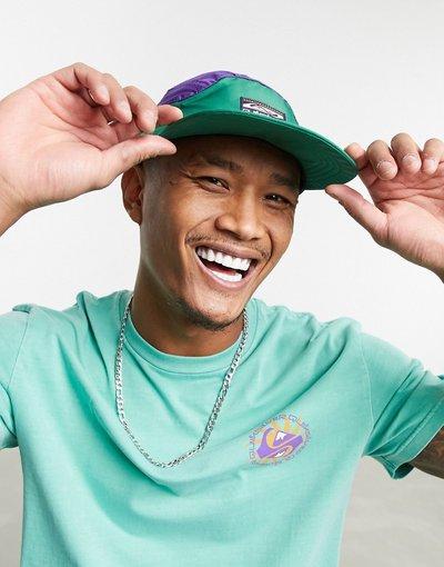 Cappello Verde uomo Cappellino verde e viola - Quiksilver - Flowbait