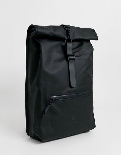 Borsa Nero uomo Zaino rolltop impermeabile nero - Rains - 1316