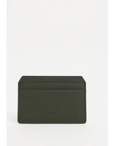 Portafoglio Verde uomo Portacarte verde - Rains - 1624