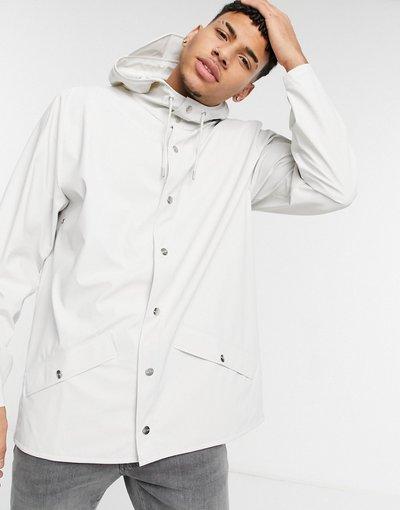 Bianco uomo Giacca leggera con cappuccio bianco sporco - Rains