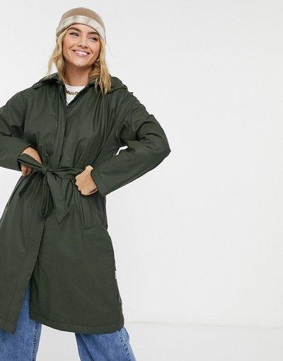 Verde donna Trench impermeabile verde - Rains - W