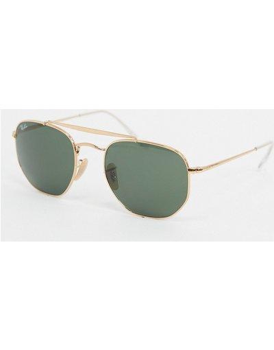 Occhiali Oro uomo Occhiali da sole esagonali oro ORB3648 - ban - Ray