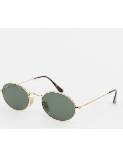 Occhiali Oro uomo Occhiali da sole ovali oro ORB3547N - ban - Ray
