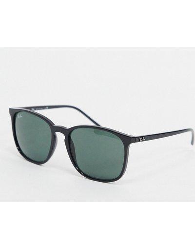 Occhiali Nero uomo Occhiali da sole rotondi neri ORB4387 - ban - Nero - Ray