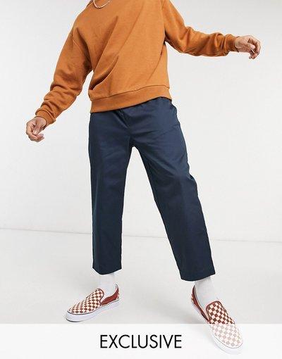 Blu navy uomo Pantaloni corti comodi blu navy - Reclaimed Vintage