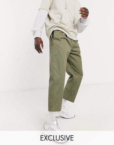 Verde uomo Pantaloni cropped comodi kaki - Reclaimed Vintage - Verde