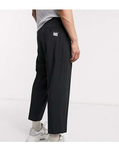 Nero uomo Pantaloni eleganti con fondo ampio - Reclaimed vintage - Nero