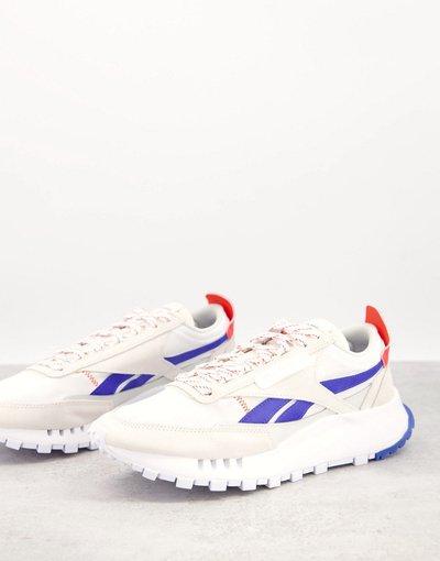 Sneackers Bianco uomo Sneakers bianche e blu - Reebok Classic - Legacy - Bianco