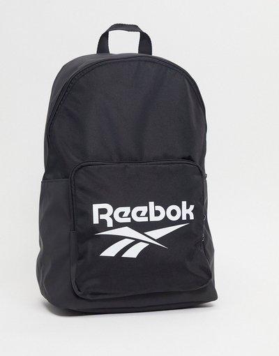 Borsa Nero uomo Zaino nero con logo grande - Reebok Classics