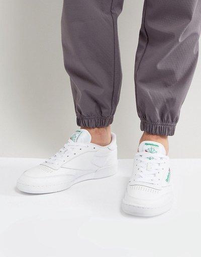 Stivali Bianco uomo Sneakers bianche AR0456 - Reebok Club C - Bianco