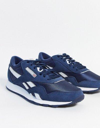 Stivali Navy uomo Sneakers classiche in nylon blu navy - Reebok