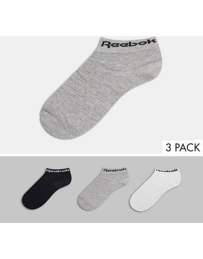 Intimo Multicolore uomo Confezione da 3 paia di calzini alla caviglia multicolore - Reebok Training - Core moda abbigliamento
