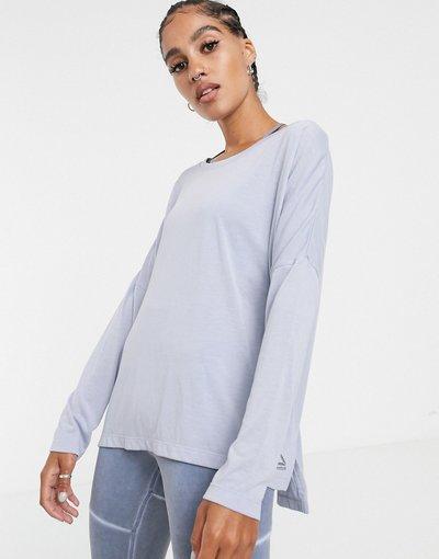 T-shirt Blu donna Maglietta a maniche lunghe blu - Reebok Training