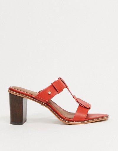 Sandali Rosso donna Sandali sabot con tacco rossi - Alessa - Reiss - Rosso